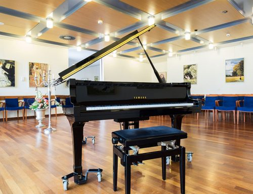 Nova Vita Essen, Veranstaltungsraum mit Piano